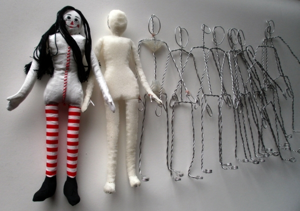 So far, one doll is complete and the rest are in progress as you can see from the photo.